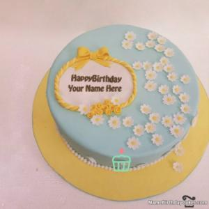 Decorated Birthday Cake For Men With Name