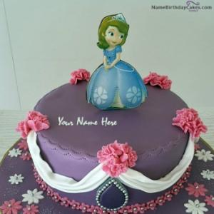 Doll Happy Birthday Cake for Girls With Name