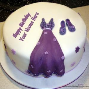Dress Birthday Cakes for Girls With Name