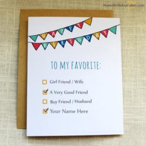 Favourite Birthday Card for Friends With Name