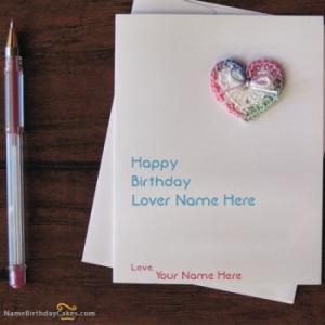 Handmade Lover Birthday Card With Name