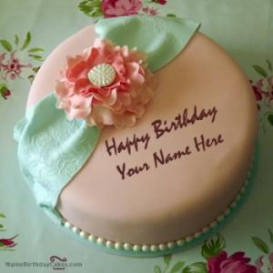 Happy Birthday Cake For Wife With Name