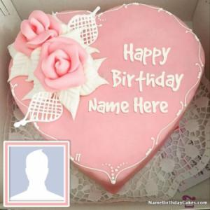 Latest Happy Birthday Cake With Name And Photo
