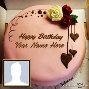 Happy Birthday Chocolate Cake With Name Edit And Photo