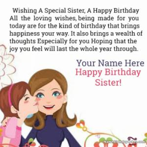 Wish Happy Birthday Sister With Name