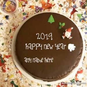 Special Happy New Year Cake 2019 With Name