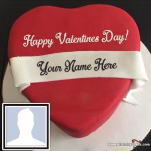 Special Happy Valentine Cake With Name And Photo