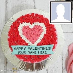 Happy Valentines Day Cake With Name