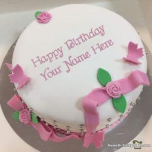 Ice Cream Fondant Cake For Friends Birthday Wish With Name