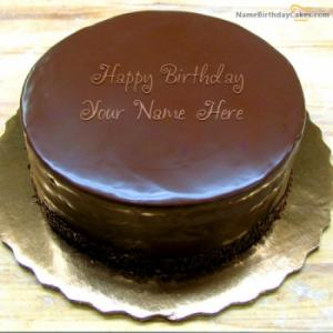 Birthday Chocolate Cake With Name