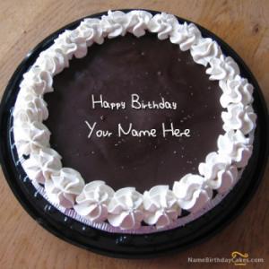 Fantastic Chocolate Icecream Birthday Cake With Name