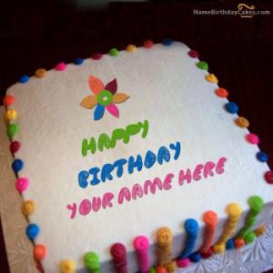 Colorful Birthday Cake With Name