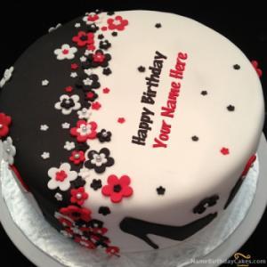 Elegant Birthday Cake With Name
