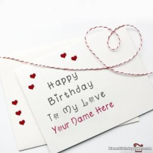Lovely Happy Birthday Card For Lover With Name