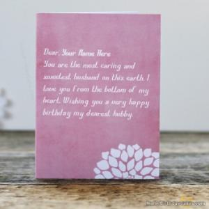 Lovely Husband Birthday Card With Name