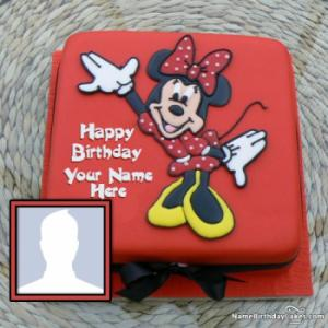Minnie Mouse Birthday Cakes With Photo And Name