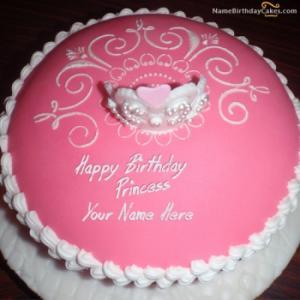 Princess Birthday Cake For Sister With Name