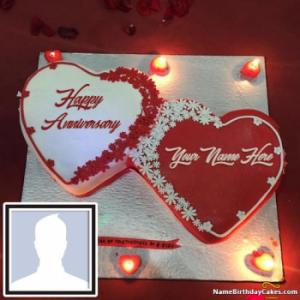 Popular Romantic Anniversary Cakes With Name