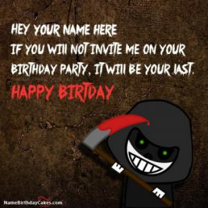 Scary Funny Birthday Wish With Name
