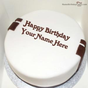 Simple Birthday Cake For Husband With Name