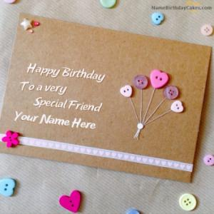 Special Birthday Card for Friend With Name