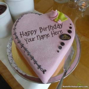 Special Decorated Happy Birthday Cake For Best Friends With Name