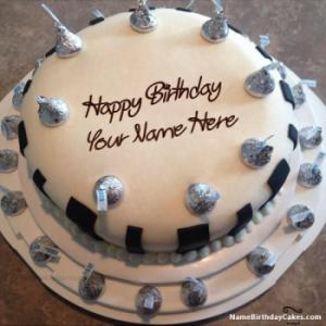 Special Ice Cream Cake For Happy Birthday With Name