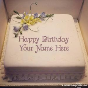 Special Round Birthday Cake For Lover With Name