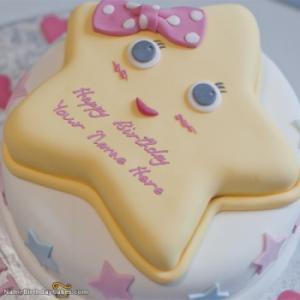 Star Birthday Cake For Kids With Name