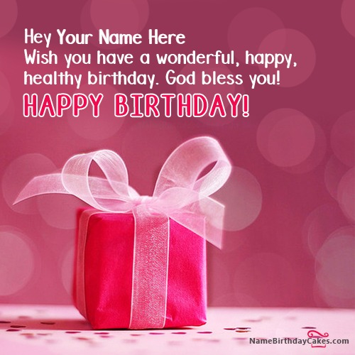 Write Name On Amazing Birthday Wish For Anyone