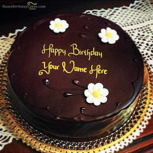 Amazing Chocolate Birthday Cake With Name