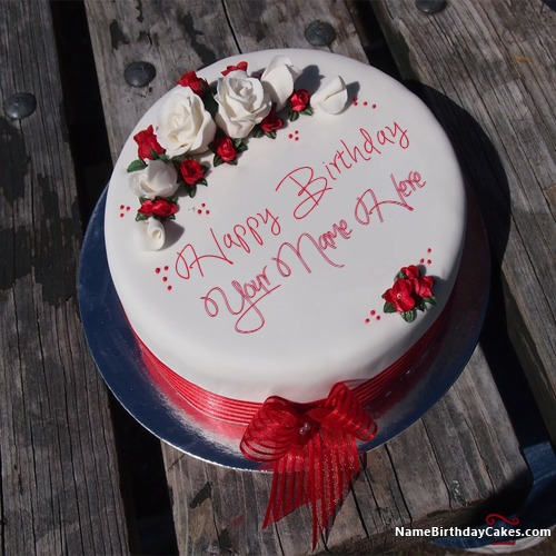 Amazing Decorated Rose Birthday Cakes For Friends And Lovers With Name