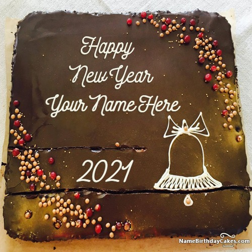 Write Name On Amazing Happy New Year 2017 Cakes