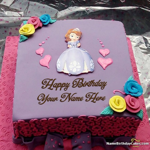 Terrific Beautiful Fairy Birthday Cake With Name For Girls Personalised Birthday Cards Sponlily Jamesorg