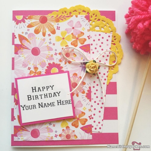 Write Name On Awesome Happy Birthday Cards