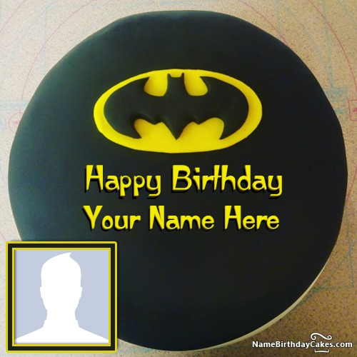 Batman Birthday Cake For Kids With Name And Photo