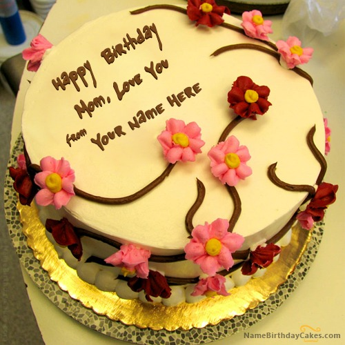 Write Name On Beautiful Birthday Cake For Mother