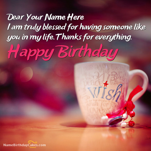 Write Name On Beautiful Birthday Wish