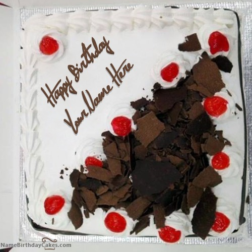 Write Name On Best Black Forest Birthday Cake