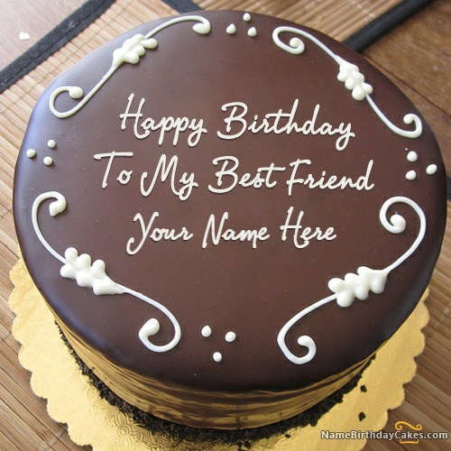 Happy Birthday To My Best Friend Cake With Name