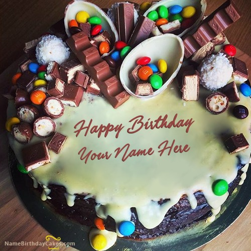Birthday Kajal Name Cake Images : Best Ever Birthday Chocolate Cakes With Name & Photo