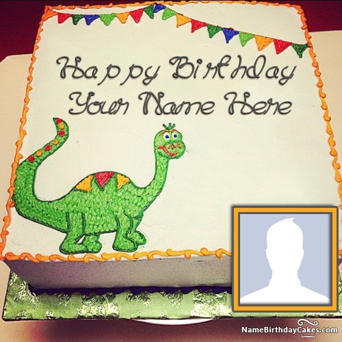 Best Dinosaur Birthday Cake With Your Kids Name And Photo