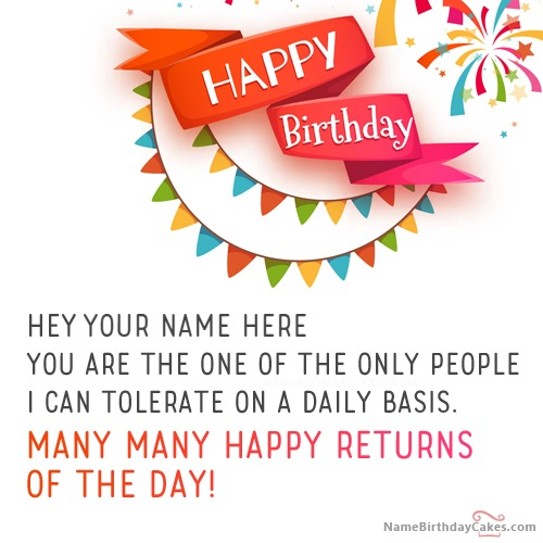 Best Funny Birthday Wishes For Friends With Name