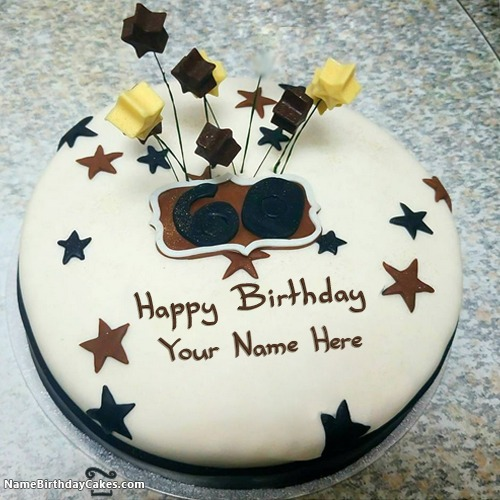 Magnificent Best Happy 60Th Birthday Cakes With Name Personalised Birthday Cards Veneteletsinfo