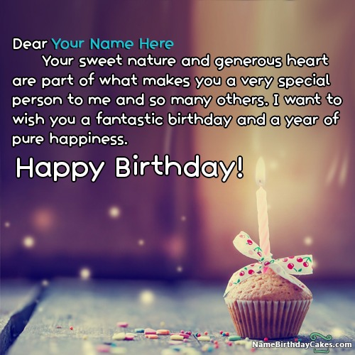 Write Name on Birthday Cards for Brother Birthday Wishes – Wish Birthday Card