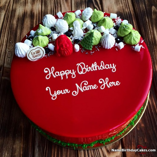 Write Name On Best Red Velvet Cake For Friends Birthday Wishes