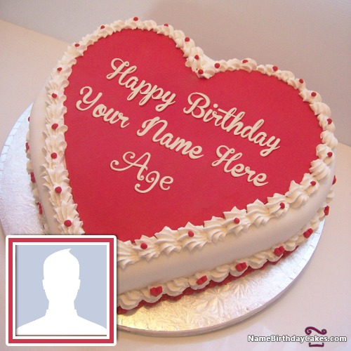 Big Birthday Cake with Name, Age and Photo