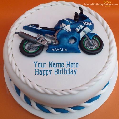 Awesome Heavy Bike Birthday Cake With Name Personalised Birthday Cards Xaembasilily Jamesorg