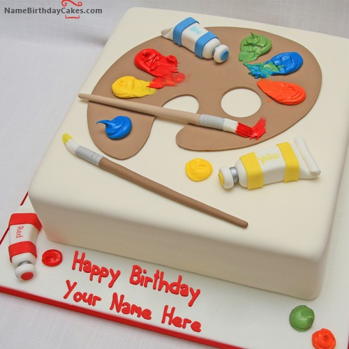 Write Name On Birthday Cake For Artist
