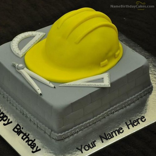 Birthday Cake For Civil Engineer With Name